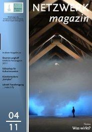NETZWERK magazin - Alfred Toepfer Stiftung F.V.S.