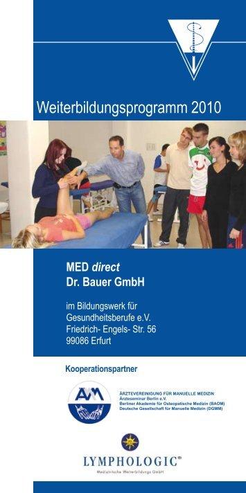 Weiterbildungsprogramm 2010 - Bildungswerk für ...