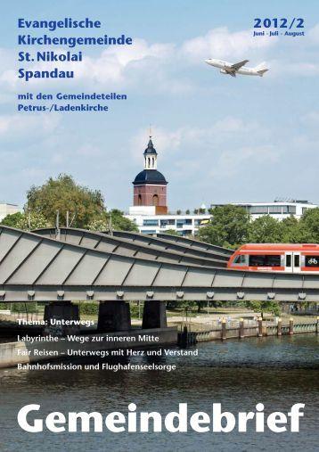 Gemeindebrief 2012 Nr. 2 - St. Nikolai Spandau Homepage