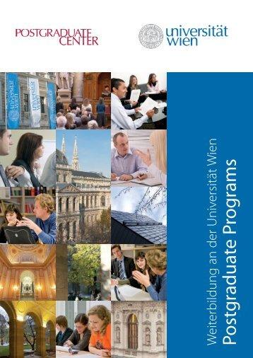 Gesundheit und Soziales - Postgraduate Center