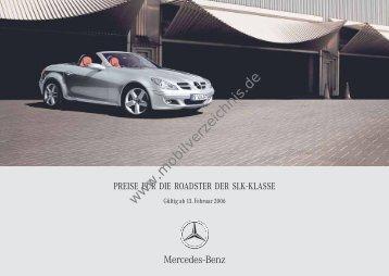 Preisliste Mercedes SLK, 2/2006 - mobilverzeichnis.de