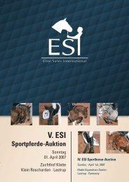 V. ESI Sportpferde-Auktion