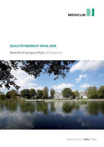 Qualitätsbericht Reha 2009 - MediClin Kraichgau-Klinik