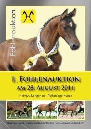 1. Fohlenauktion am 28. August 2011 - Verband Hessischer ...