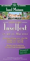 Inselfest Flyer - Insel Mainau