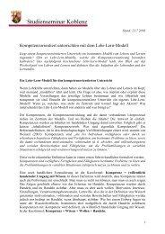 Kompetenzorientiert unterrichten mit dem Lehr-Lern ... - Josef Leisen
