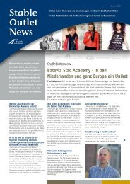Stable Outlet News - Stable International