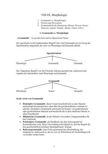VIII-IX. Morphologie