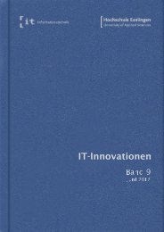 it-Innovationen Sommersemester 2012 Band 9 - Hochschule ...
