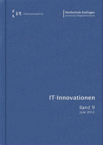 it-Innovationen Sommersemester 2012 Band 9 - Hochschule ...