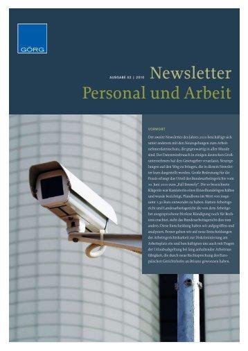 Newsletter Personal und Arbeit - goerg.de