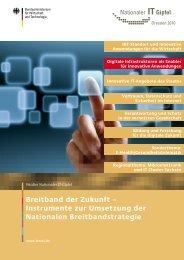 Breitband der Zukunft – Instrumente zur Umsetzung der Nationalen ...