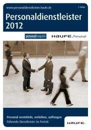 Personaldienstleister 2012 - Haufe-Lexware