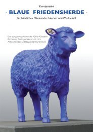 Blaue Friedensherde - Blaue Schafe