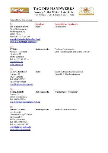 TAG DES HANDWERKS - Rother Akzent