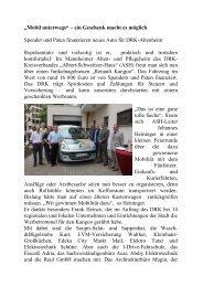 """""""Mobil unterwegs"""" – ein Geschenk macht es möglich - DRK ..."""