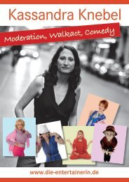 Moderation, Walkact, Comedy - Die-Entertainerin.de
