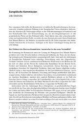 Europäische Kommission - Jahrbuch der Europäischen Integration