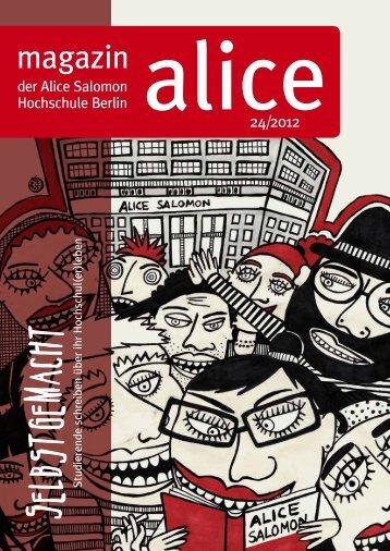 magazin - Alice Salomon Hochschule Berlin