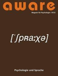 Psychologie und Sprache - aware – Magazin für Psychologie