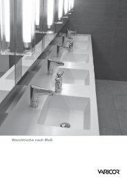 Waschtische nach Maß - Varicor