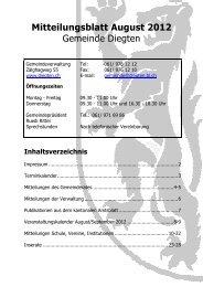 Mitteilungsblatt August 2012 - Gemeinde Diegten