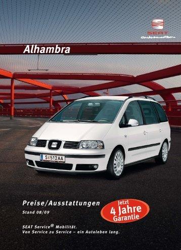 Preisliste Alhambra 0809