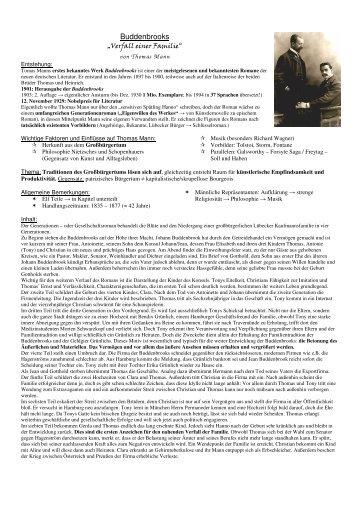 Buddenbrooks von Thomas Mann - DeutschServer.de am MPG ...