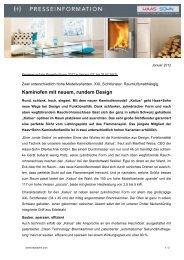 Kaminofen mit neuem, rundem Design - Haas + Sohn