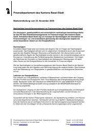 Finanzdepartement des Kantons Basel-Stadt - Immobilien Basel-Stadt