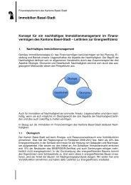 Konzept nachhaltiges Immomanagement_FV - Immobilien Basel-Stadt