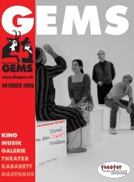 oktober 2006 kino musik galerie theater kabarett gasthaus