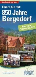 Das volle Programm 2012 850 Jahre Bergedorf