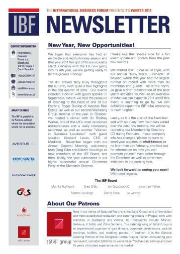 New Year, New Opportunities! - The International Business Forum