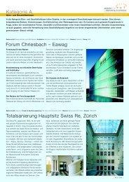 Kategorie A Totalsanierung Hauptsitz Swiss Re, Zürich Forum ...