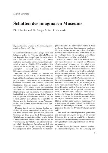 Schatten des imaginären Museums - Albertina