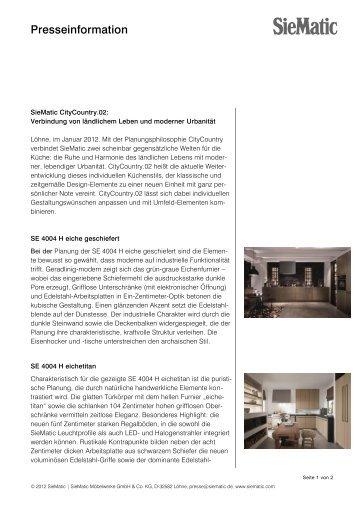 7579 d markenbroschu re 2011 siematic. Black Bedroom Furniture Sets. Home Design Ideas