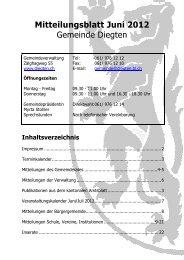 Mitteilungsblatt Juni 2012 - Gemeinde Diegten