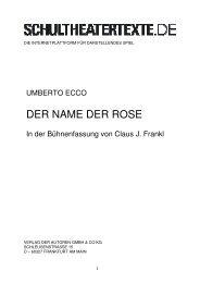 Eco_Frankl, Der Name der Rose - schultheatertexte.de