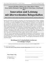 (Hg.) Innovation und Leistung mit älterwerdenden Belegschaften