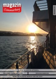 Ausgabe Oktober 2011 - Zimmerberg-Magazin