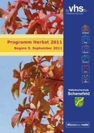 Schenefeld Programm Herbst 2011 - VHS Schenefeld
