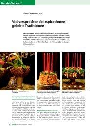 Vielversprechende Inspirationen – gelebte Traditionen