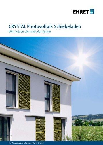 schiebeladen crystal photovoltaik ehret elektrisch preis