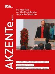Akzente 01/2011 - BSA