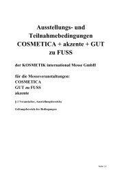 Ausstellungs- und Teilnahmebedingungen COSMETICA + akzente ...