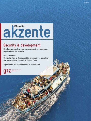 Security & development - Gtz