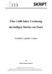 SKRIPT - Heiliger Martin von Tours