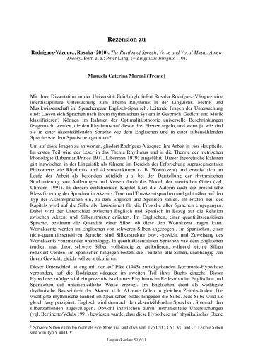 Rezension zu - Linguistik online