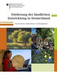 Förderung der ländlichen Entwicklung in Deutschland - BMELV